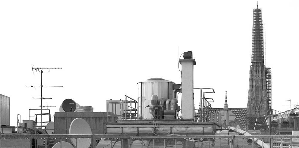 Architekt Daniel Gutmann - Dachgeschoss Führichgasse - Aussicht