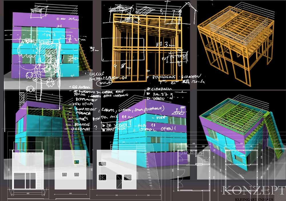 Architekt Daniel Gutmann - Einfamilienhäuser - Konzept für Kleingartenhaus - Schmelz